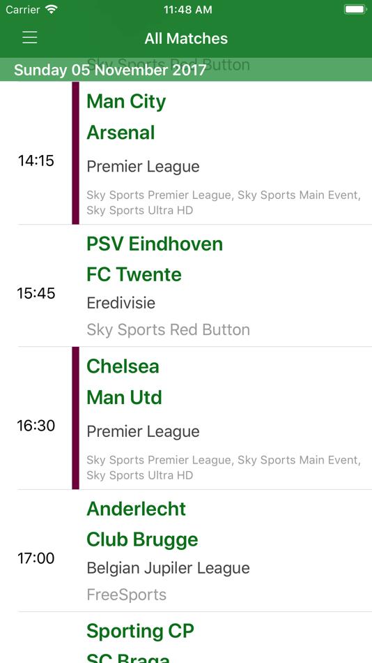 Live Football On TV – (iOS تطبيقات) — AppAgg