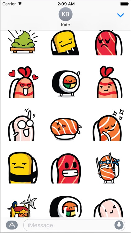Sushi Land Animated Stickers Pack for iMessage