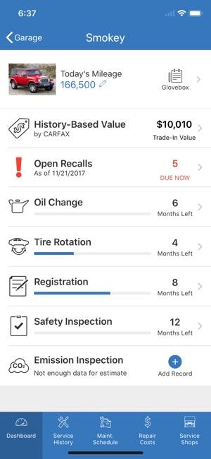 auto maintenance schedule app