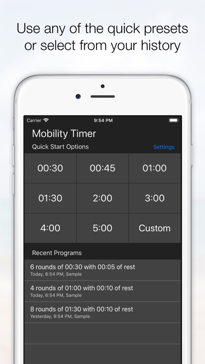 Mobility Timer