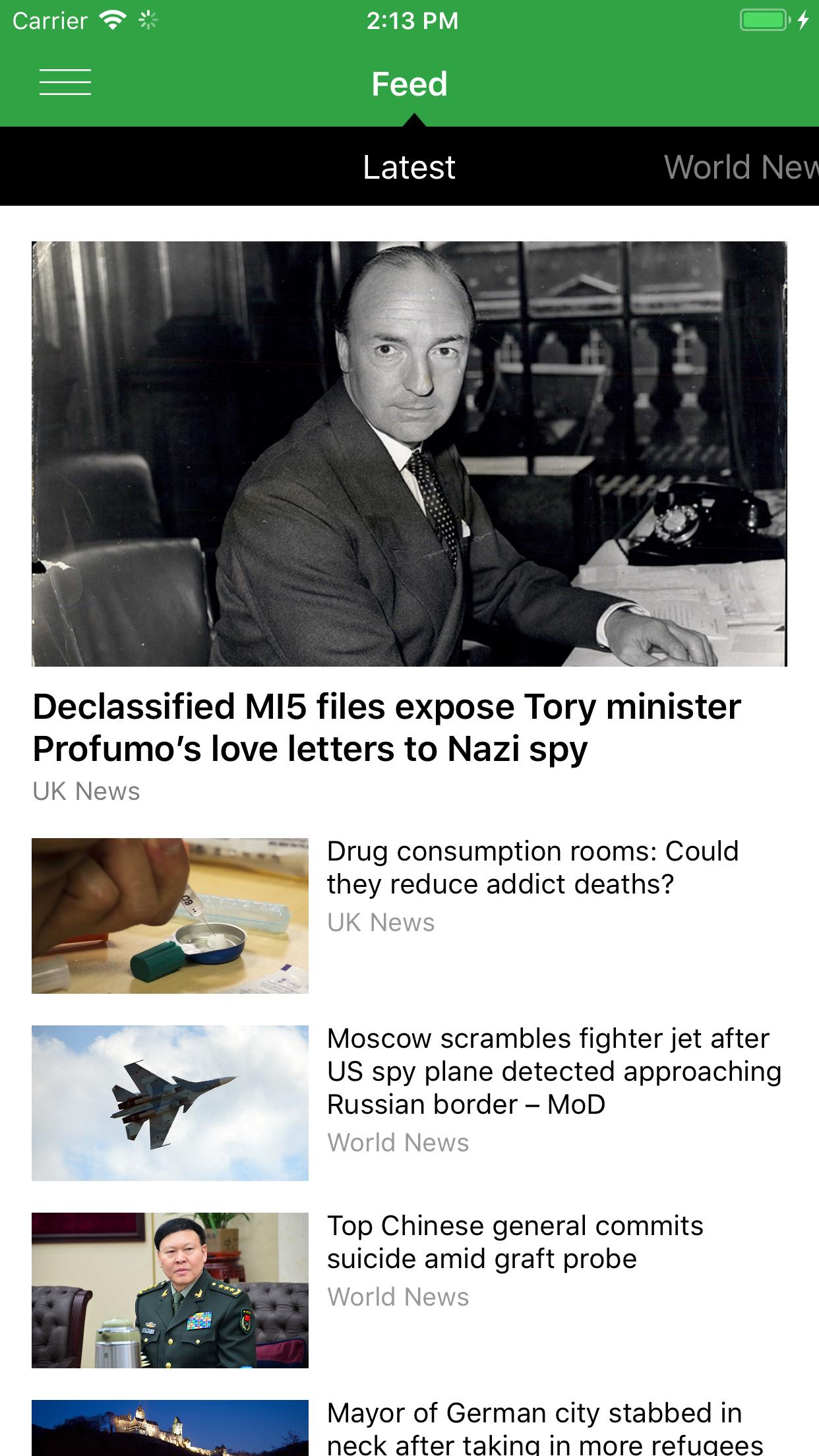 RT News (Russia Today) Screenshot