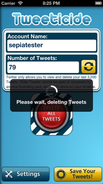 Screenshot for Tweeticide - Delete All Tweets in United States App Store