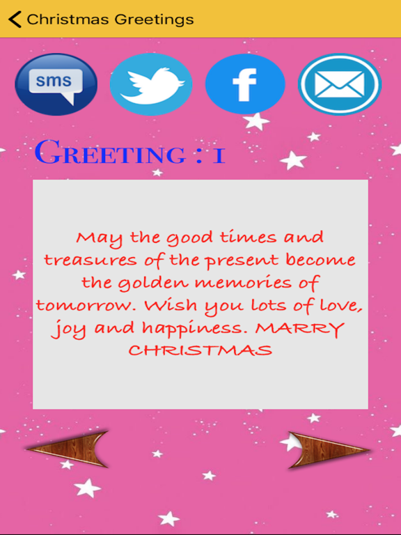 Christmas Greetings SMS screenshot 6