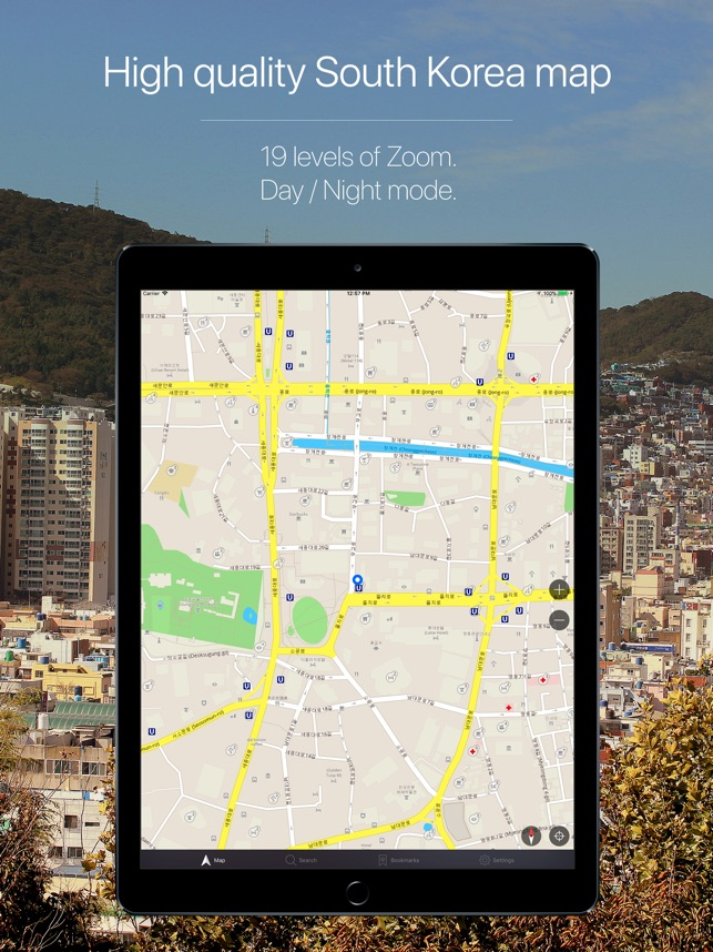 South Korea Offline Navigation on the