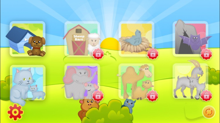 Animals Babies Puzzles Lite screenshot-3