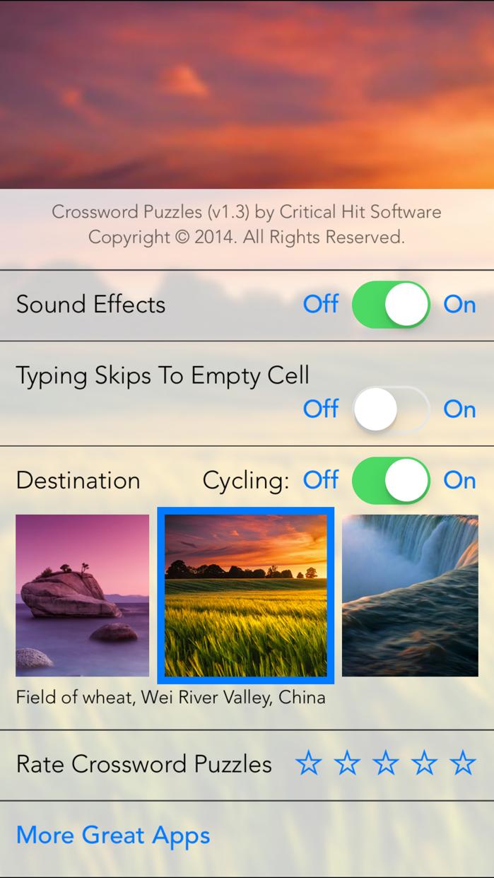 Crossword Puzzles! Screenshot