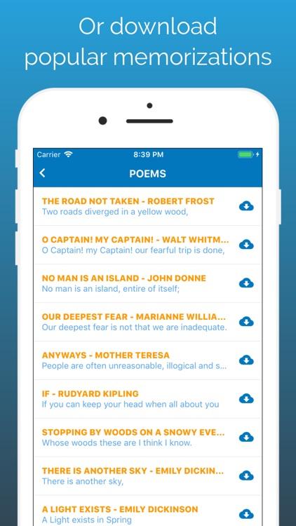 Memorize By Heart: Learn texts screenshot-4
