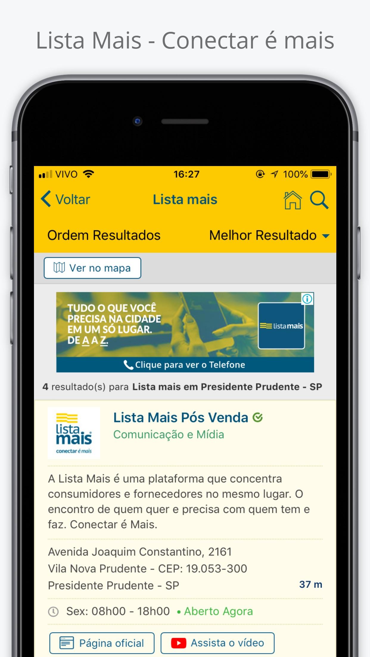 Screenshot do app Lista Mais