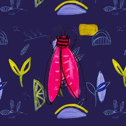 Painted Insects Stickers