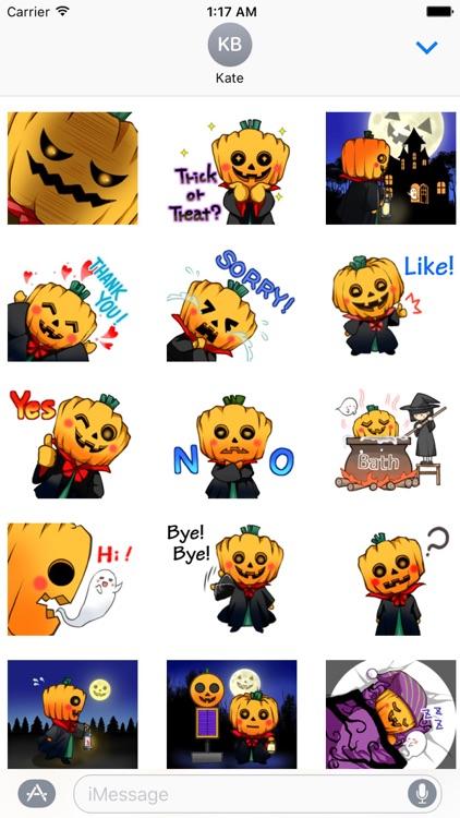 Happy Pumpkin Halloween Emoji