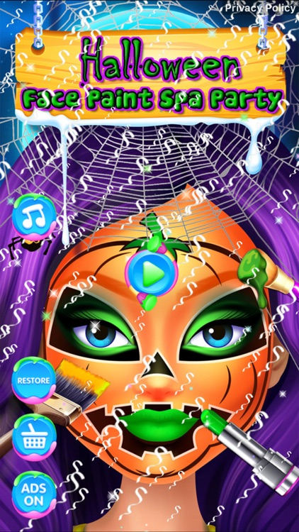 Halloween Face Paint Spa Party