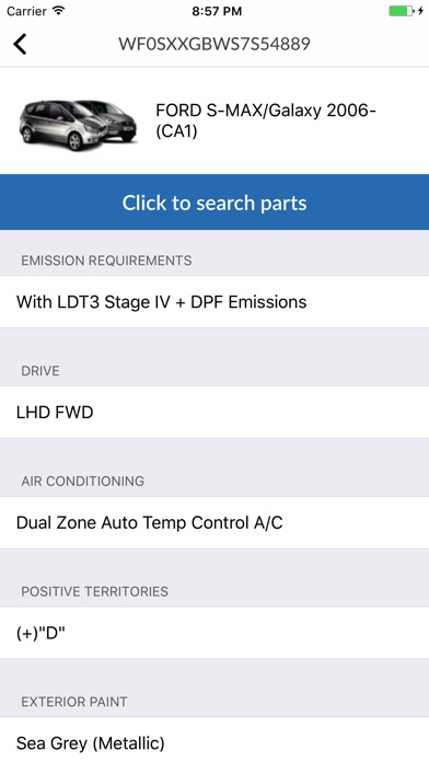 Screenshot for Car parts for Ford in Canada App Store