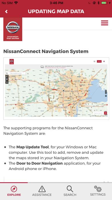 NISSAN Driver's Guide screenshot four