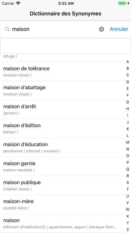 Dictionnaire des Synonymes screenshot-4