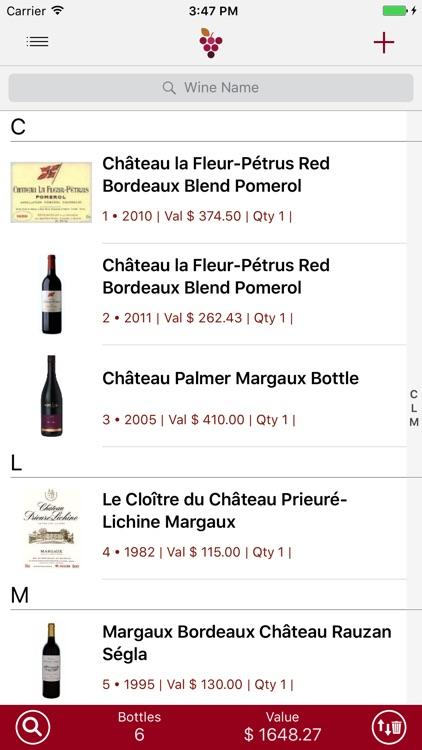 Wine Cellar Database