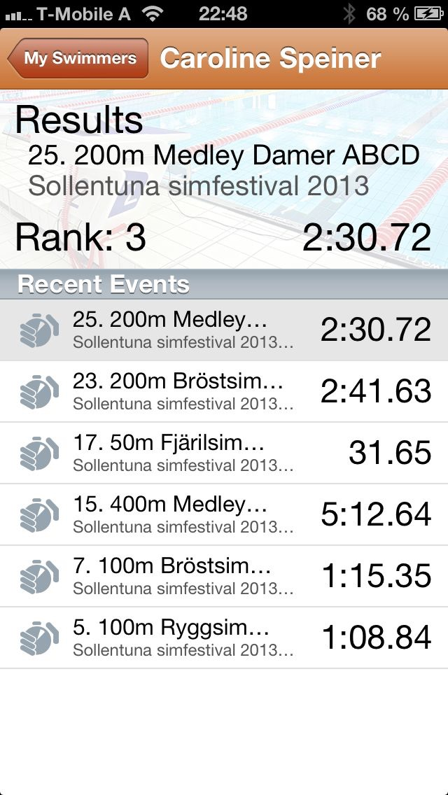 Screenshot for LiveTiming in Sweden App Store
