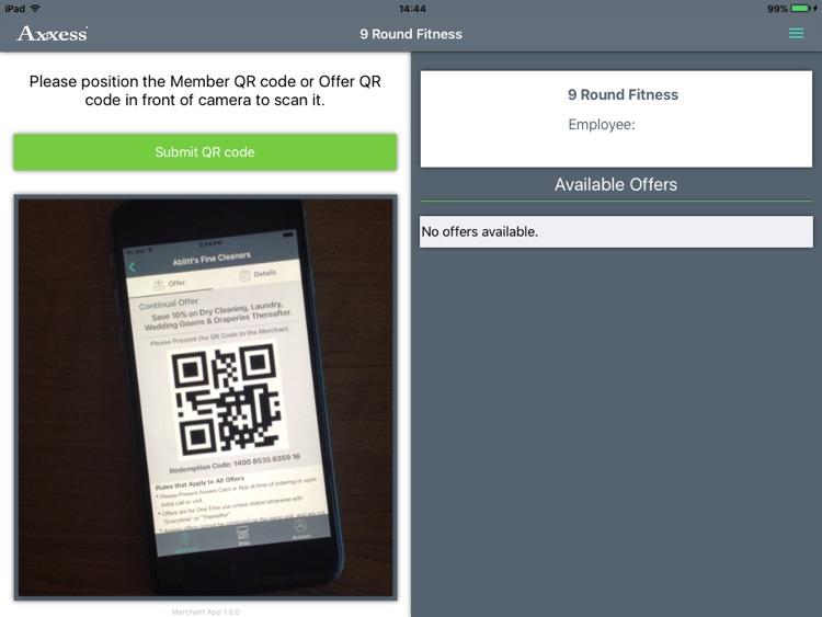 Merchant App - Axxess for iPad