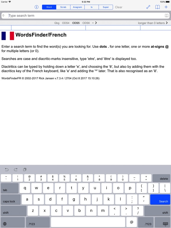 F Words Finder French PRO Скриншоты7