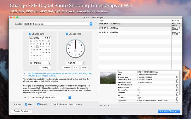 Photo Date Changer Screenshot
