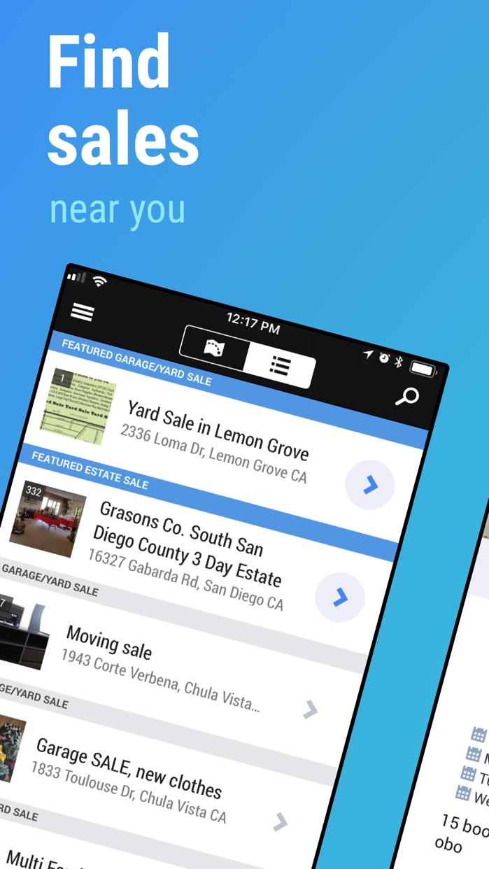 Garage Sale Map - gsalr.com Screenshot
