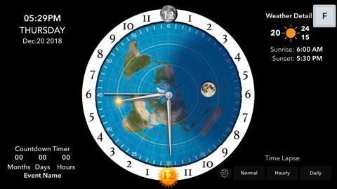Screenshot #5 for Flat Earth Sun & Moon Clock