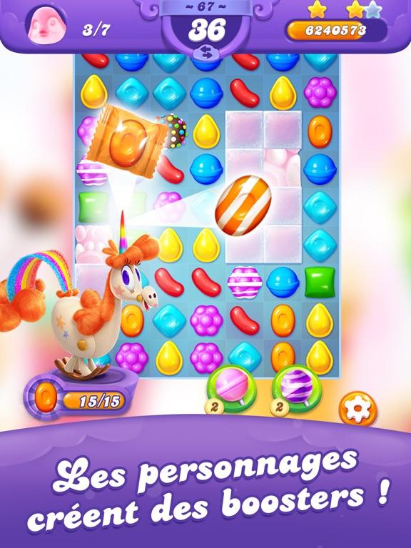 Candy Crush Saga est un jeu gratuit de réflexion pour Android qui a connu le succès le plus rapide de l'histoire avec en plus une cotation en bourse ! Candy Crush Saga est un jeu dont le but est d'associer les bombons entre eux pour les faire disparaître du tableau au fur et à mesure.