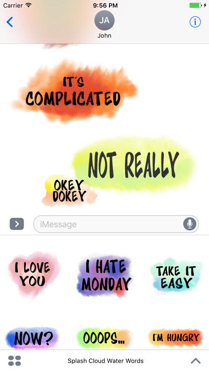 WaterColor Spring Chat Text Stickers