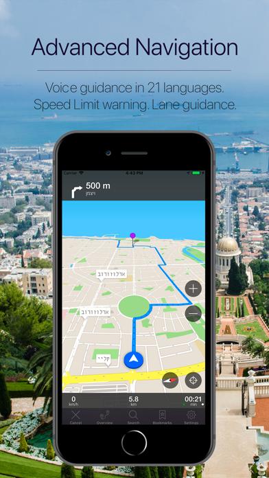 Israel Offline Navigation Screenshot