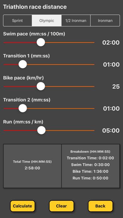 Triathlon Pace Calculatorのおすすめ画像1
