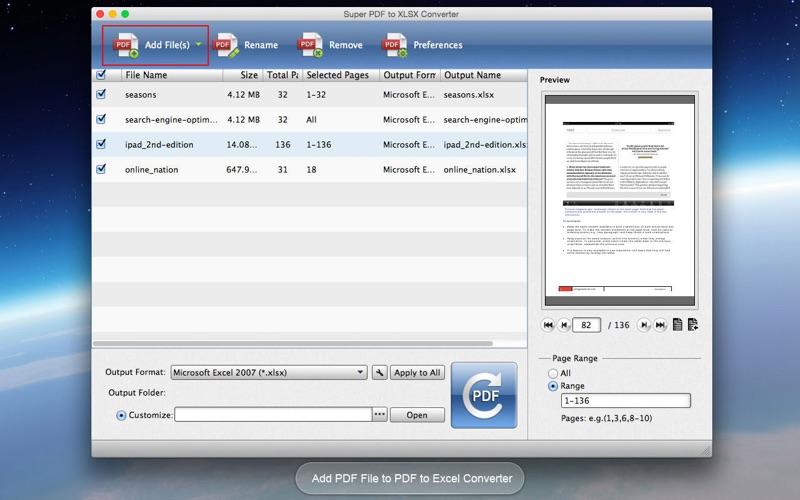 Super PDF to XLSX Converter
