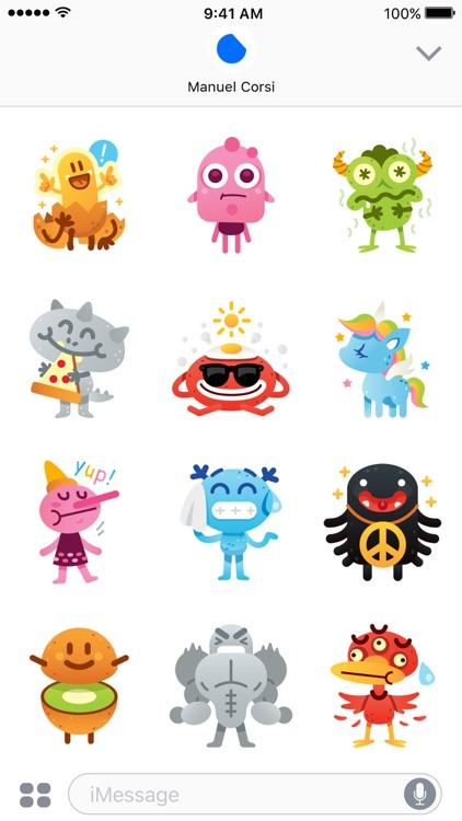 Cute Freak Monsters Emoji screenshot-3