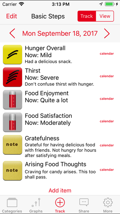 Mindful Eating Tracker review screenshots