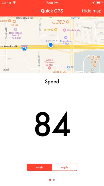Quick GPS Speedometer screenshot-0
