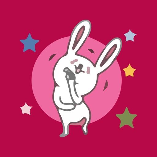 Bunny Funny Emojis Sticker Emo