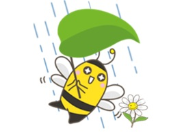 Adorable Yellow Bee Sticker