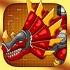 机械三角龙:双人机器恐龙拼图游戏