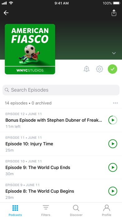 Pocket Casts review screenshots