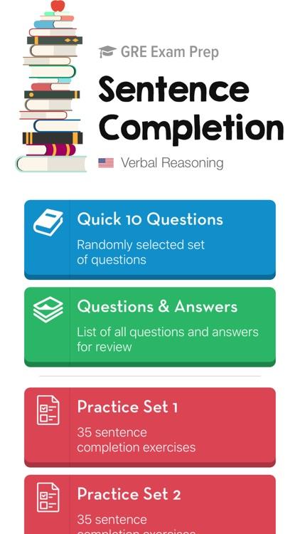 GRE Sentence Completion Tests