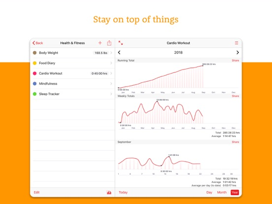Fitness Tracker+ Workout Plan Screenshots