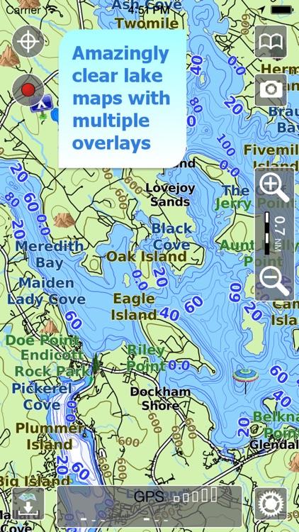 Aqua Map New Hampshire Lakes screenshot-0