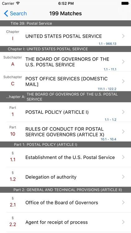39 CFR - Postal Service (LawStack Series) screenshot-4