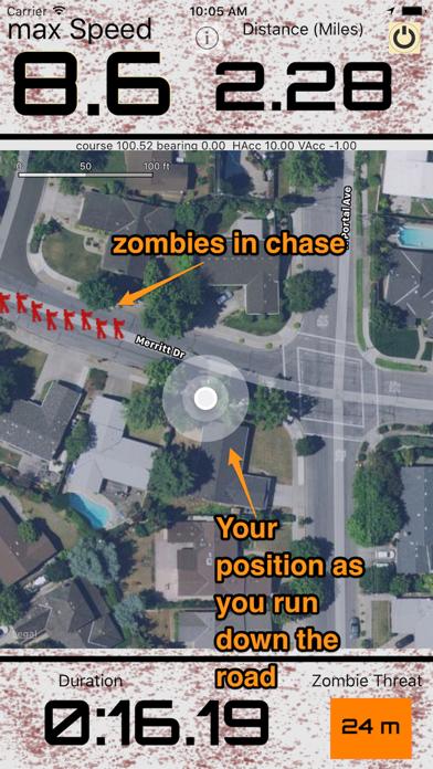 Zombie coach - running aid screenshot one