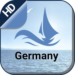 Germany boating Nautical offline chart for fishing