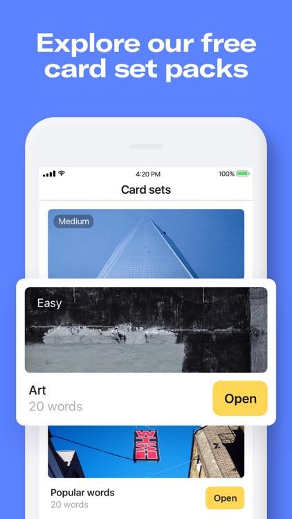 Remember: language flashcards