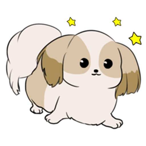 Shih Tzu Dog - Shihmoji Emoji Sticker
