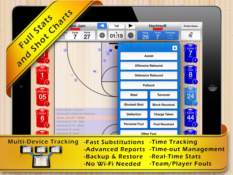 Basketball Stat Tracker HD screenshot-4