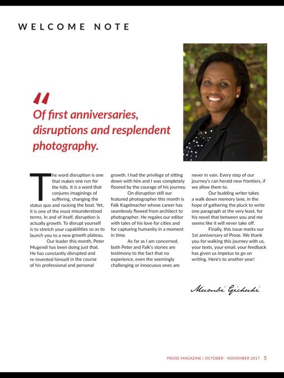 Prose magazine screenshot 6