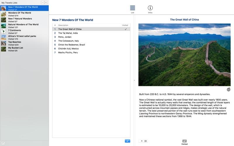 My Travels Lists скриншот программы 1