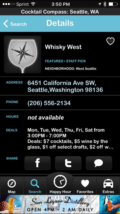 Cocktail Compass screenshot