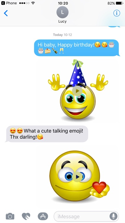 Talking Emojis for Texting